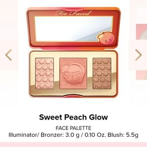 Too faced sweet peach glow highlighter pallete